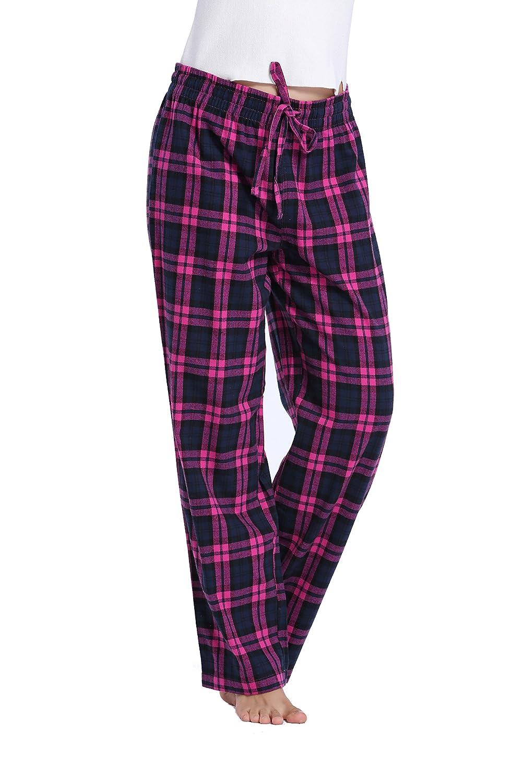 CYZ Women's 100% Cotton Super Soft Flannel Plaid Pajama/Louge Pants
