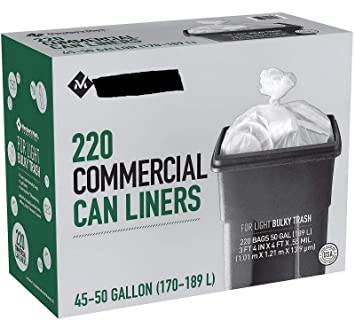 Trash Duty For Students With Special >> Amazon Com New 220 Light Duty 45 50 Gallon Garbage Bags