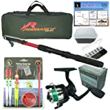 Roddarch Junior beginners Fishing Kit Set. Novice Starter fishing set includes Rod & Reel, Tackle, Bait Box, Tackle Box & Storage Bag reg; Quality Brand