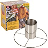 Barbecue Beer Can Vertical Chicken Roaster Grill Stand Cooker BBQ Holder