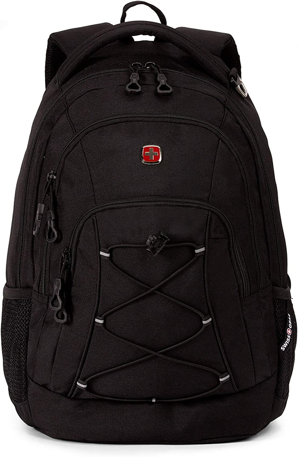 "SwissGear Travel Gear Lightweight Bungee Backpack - for School, Travel, Carry On, Professionals 17.5"" x 11.5"" x 7.5"""