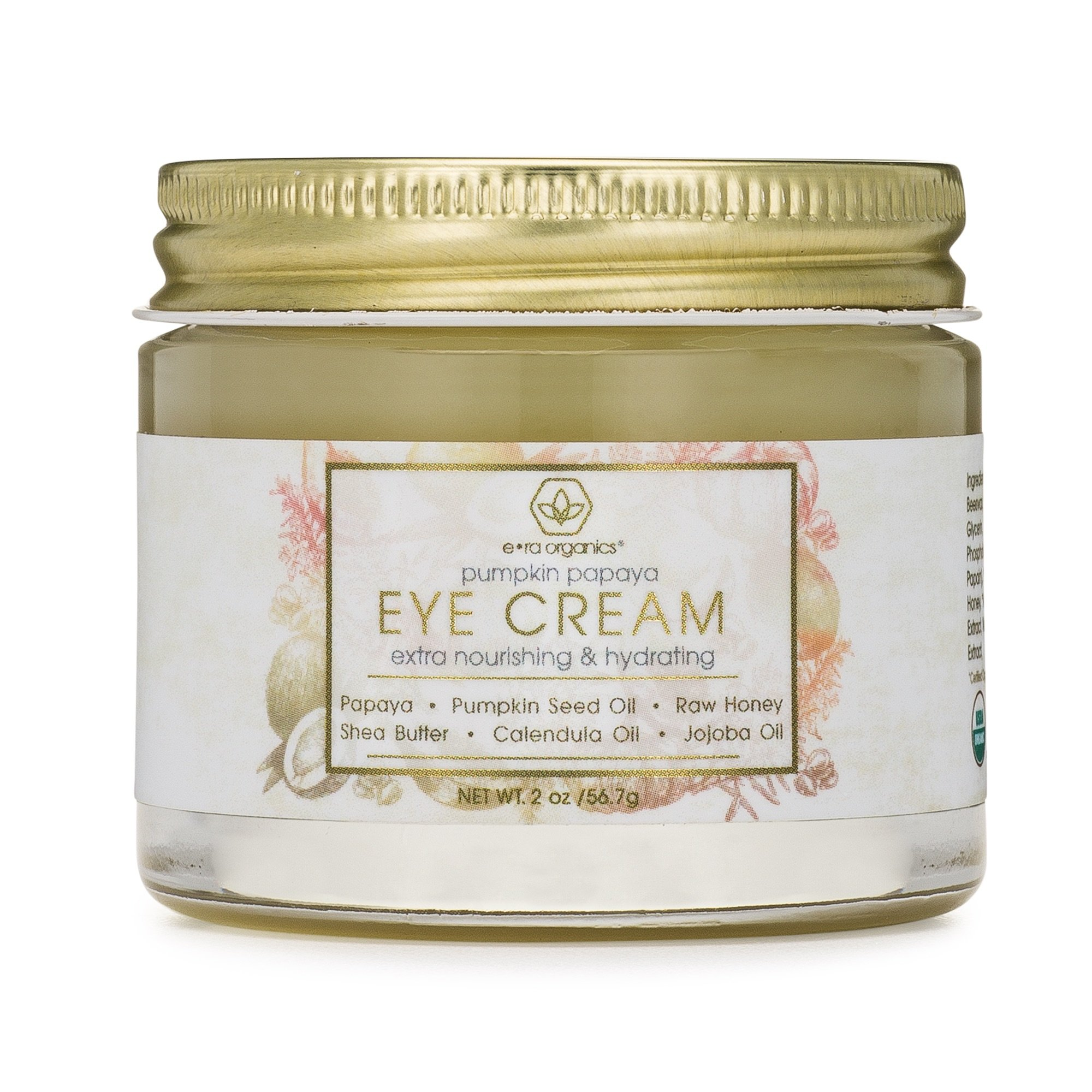 Rejuvenating Eye Cream (2oz.) Extra Nourishing & Moisturizing USDA Organic Anti Aging Eye Treatment Balm for Dark Circles, Under Eye Bags, Puffiness & Wrinkles with Jojoba Oil, Argan Oil & More by Era Organics (Image #1)