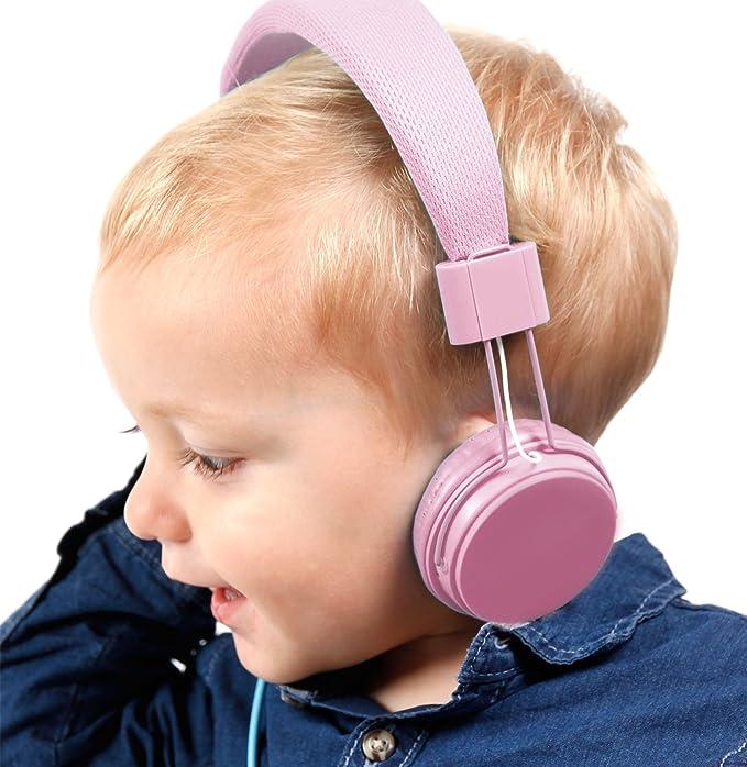 DURAGADGET Auriculares De Diadema Color Rosa para Tocadiscos ...