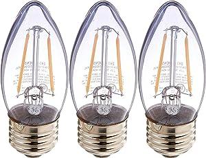 GE Lighting Reveal 3.2 Watt (40 Watt Replacement), 240 Lumens, Medium Base, Clear Finish LED Bulb (3 Bulbs)