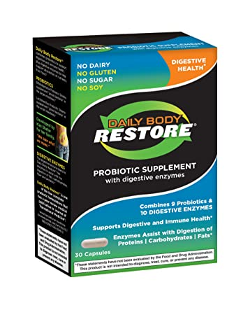 Amazon.com: Daily cuerpo restaurar Probiotic Suplemento con ...