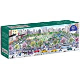 """Michael Storrings Cityscape Panoramic Puzzle, 1,000 Pieces, 39"""" x 14"""" – City Skyline Jigsaw Puzzle Featuring Colorful Artwork"""