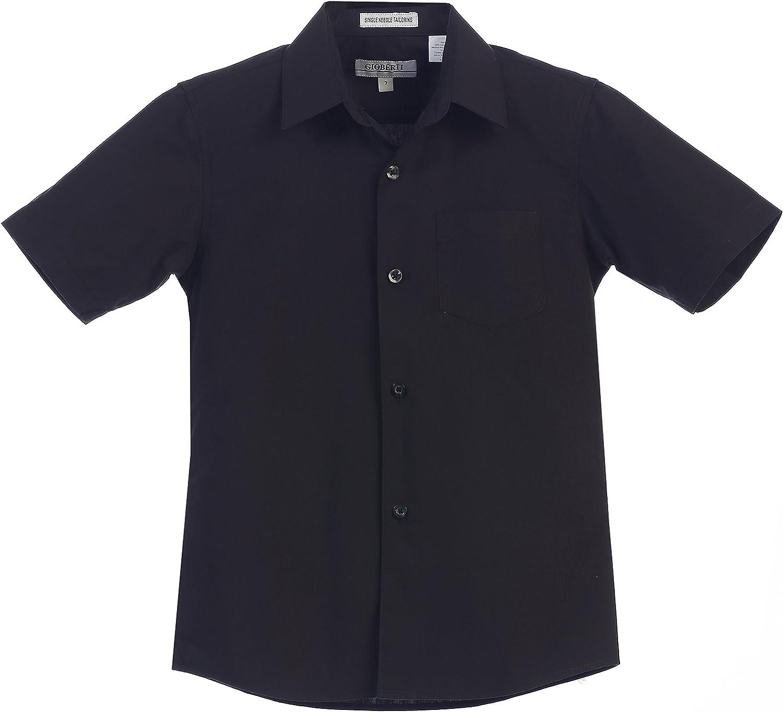 Gioberti Boys Short Sleeve Solid Dress Shirt