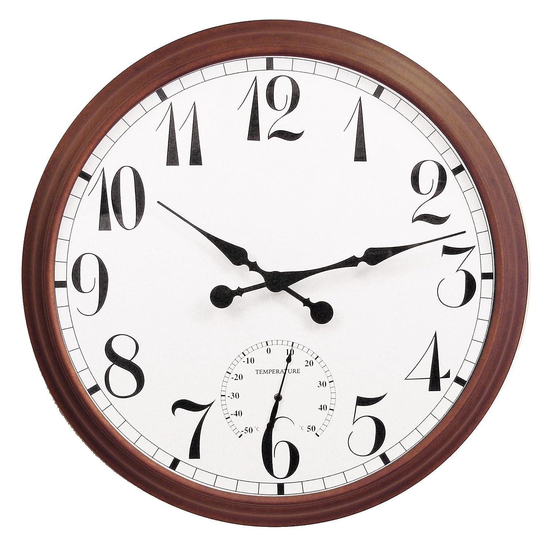 Big Time Outdoor Garden Clock   Brown   90cm / 35.4in: Amazon.co.uk: Sports  U0026 Outdoors