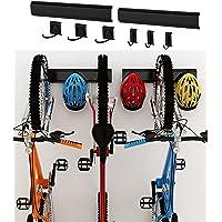 Dirza Bike Storage Rack Wall Mount Garage Bike Hanger for 3 Bicycles Adjustable Bike Hooks for Home indoor Holds Up to…