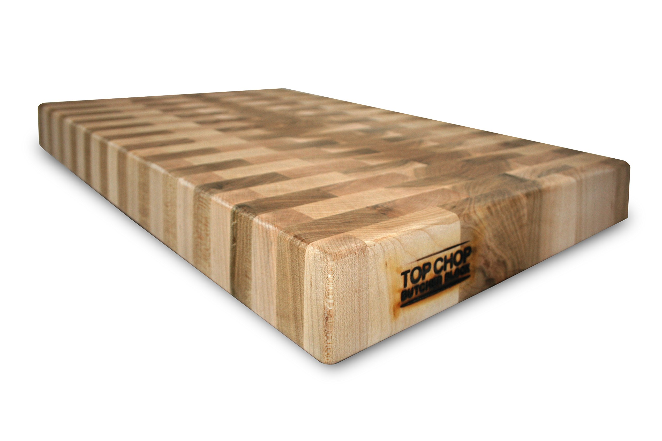 Top Chop Butcher Block PGM-16182 Premium Reversible End Grain Character Grade Cutting Board, Maple by Top Chop Butcher Block