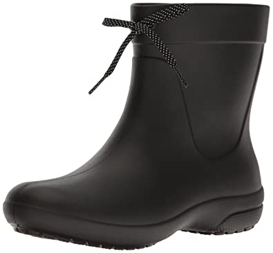 Crocs Women s Freesail Shorty Rainboot Rain Boot Black 4 ... ccf64c829c