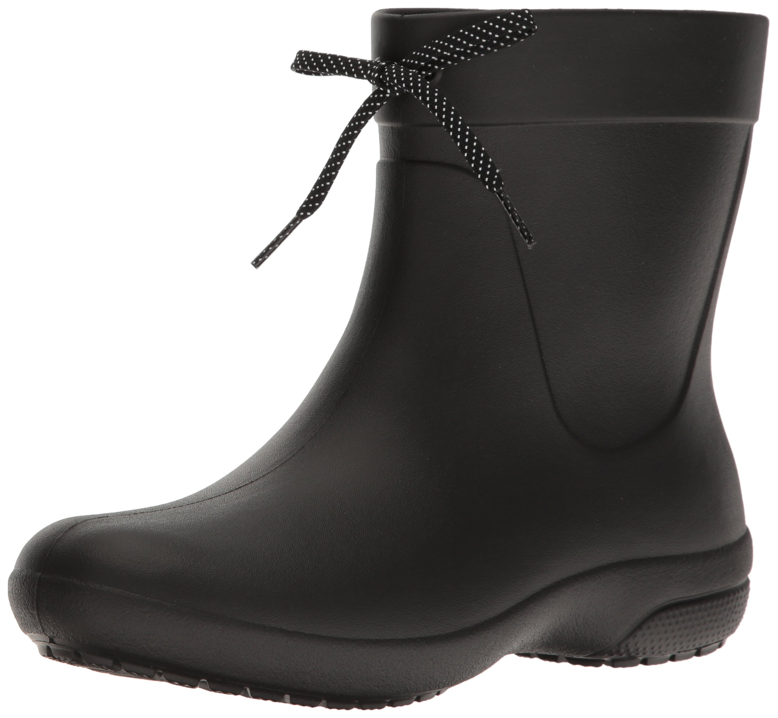 Crocs Women's Freesail Shorty Rainboot, Black, 8 M US