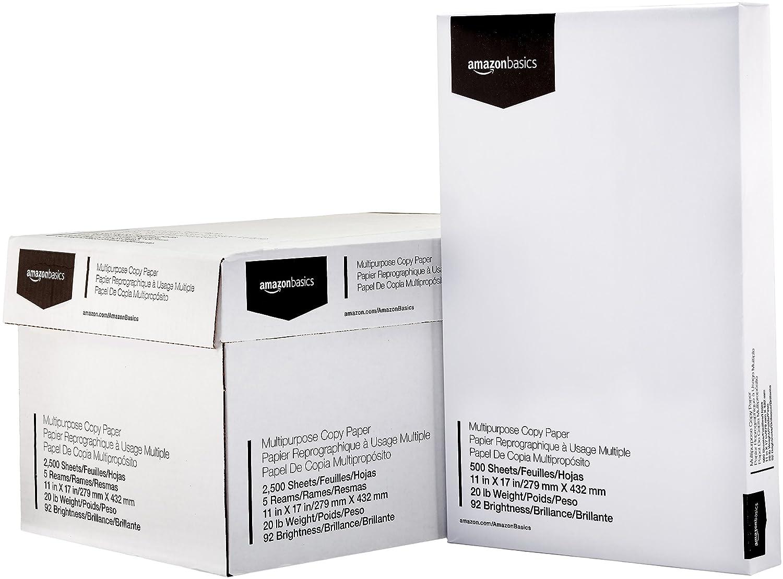 Amazon.com: AmazonBasics 92 Papel de copia brillante ...