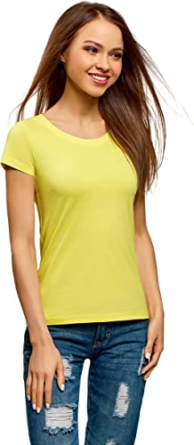 oodji Ultra Mujer Camiseta Básica de Algodón (Pack de 2 ...