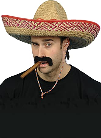 Smiffys Sombrero mexicano de paja a92386c7c06