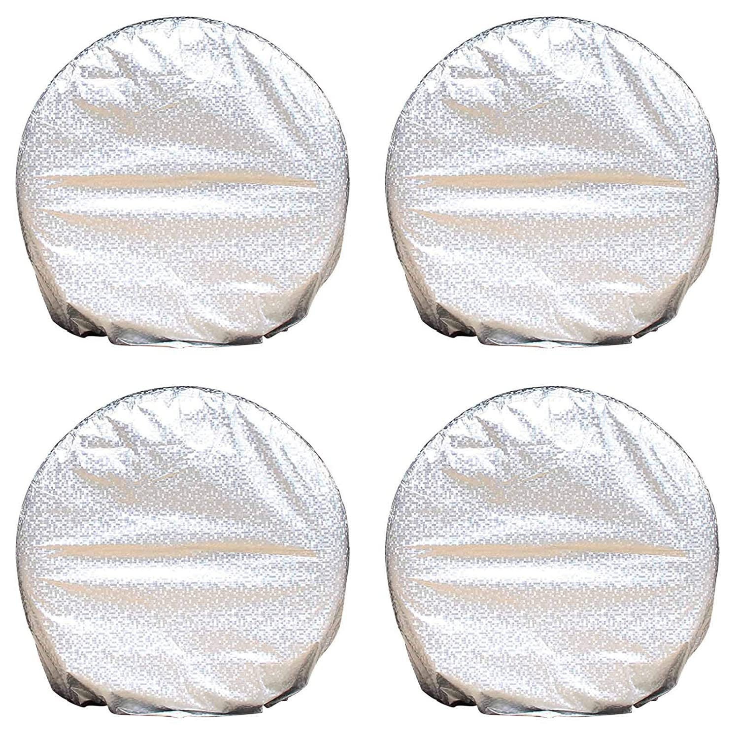 NEVERLAND Tire Covers, Heavy Duty Waterproof Oxford Cloth Fabric Tire Sun Protectors, Fits 27'-30' Tire Diameters RV Trailer Camper Car Truck Set of 4 Fits 27-30 Tire Diameters RV Trailer Camper Car Truck Set of 4