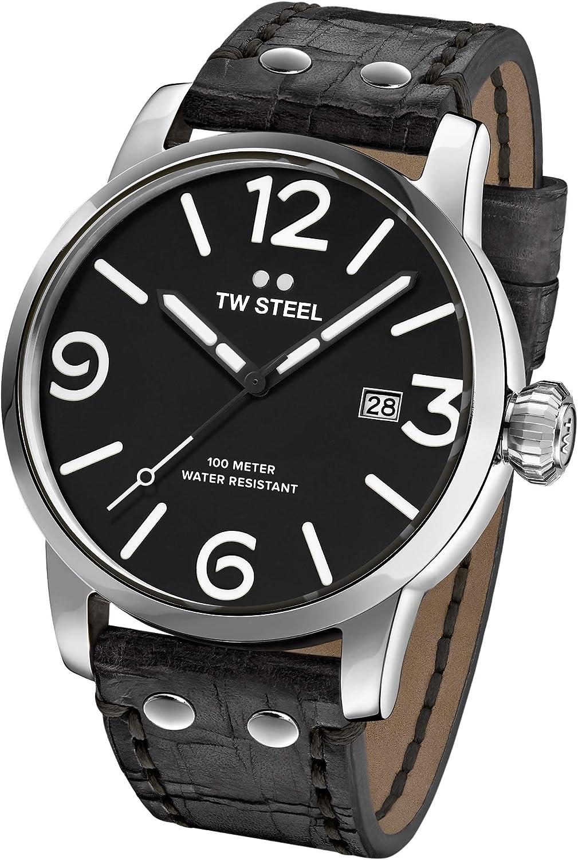 TW Steel Reloj Analógico para Unisex Adultos de Cuarzo con Correa en Cuero MS61