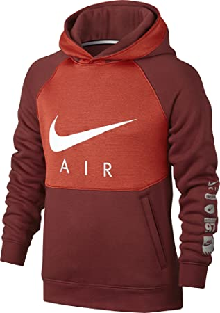Nike B Nk Air Hoodie Po BF Sudadera, Niños, Rojo (Dark Cayenne/MAX Orange/White), XS: Amazon.es: Deportes y aire libre