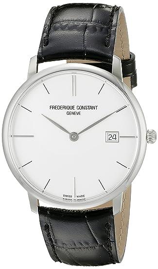 Frederique Constant Geneve Slimline Gents FC-220S5S6 Reloj de Pulsera para hombres Plano & ligero