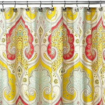 DS BATH Medina Saffron Shower CurtainMildew Resistant Fabric CurtainContemporary Curtains