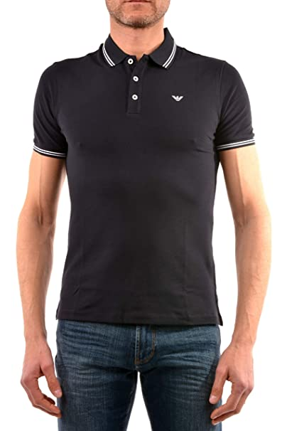 Armani Slim Tipped Short Sleeved Slim Fit Polo: Amazon.es: Ropa y ...