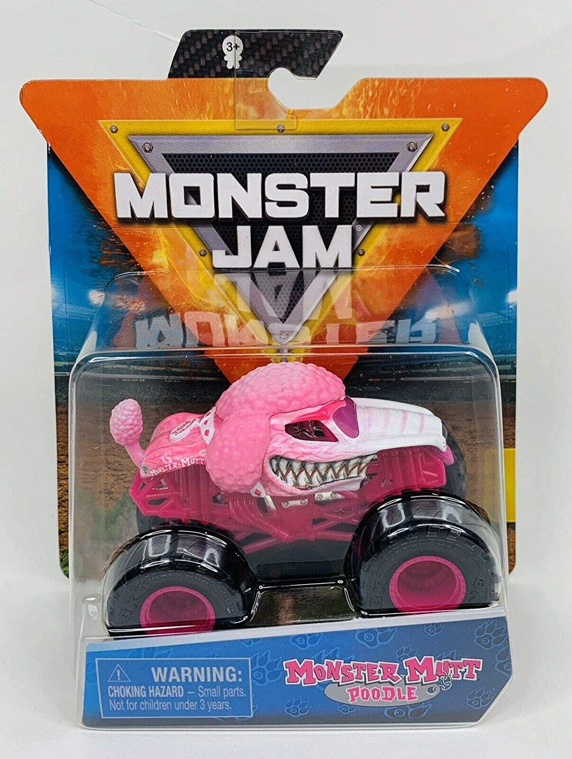 Amazon Com Monster Jam 2020 Spin Master 1 64 Diecast Monster Truck With Wristband Ruff Crowd Monster Mutt Poodle Toys Games