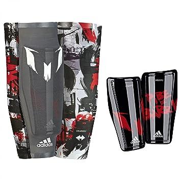 the best attitude a3c73 25612 adidas Schienbeinschoner Messi 10 - Espinilleras de fútbol, Color Negro,  Talla S