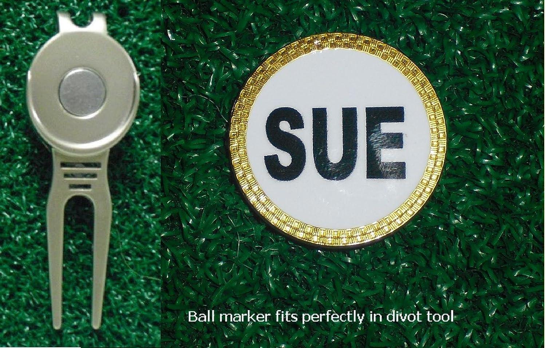 Amazon Com Gatormade Personalized Golf Ball Marker Divot Tool Sue Sports Outdoors
