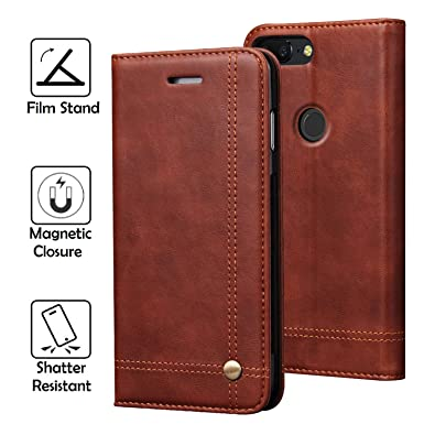 best service d61a9 a44e2 REAL-EAGLE OnePlus 5T Case, Oneplus 5T Wallet Case,OnePlus 5T Premium PU  Leather Wallet Protection Case with [Kickstand] [Card Slots] [Magnetic ...