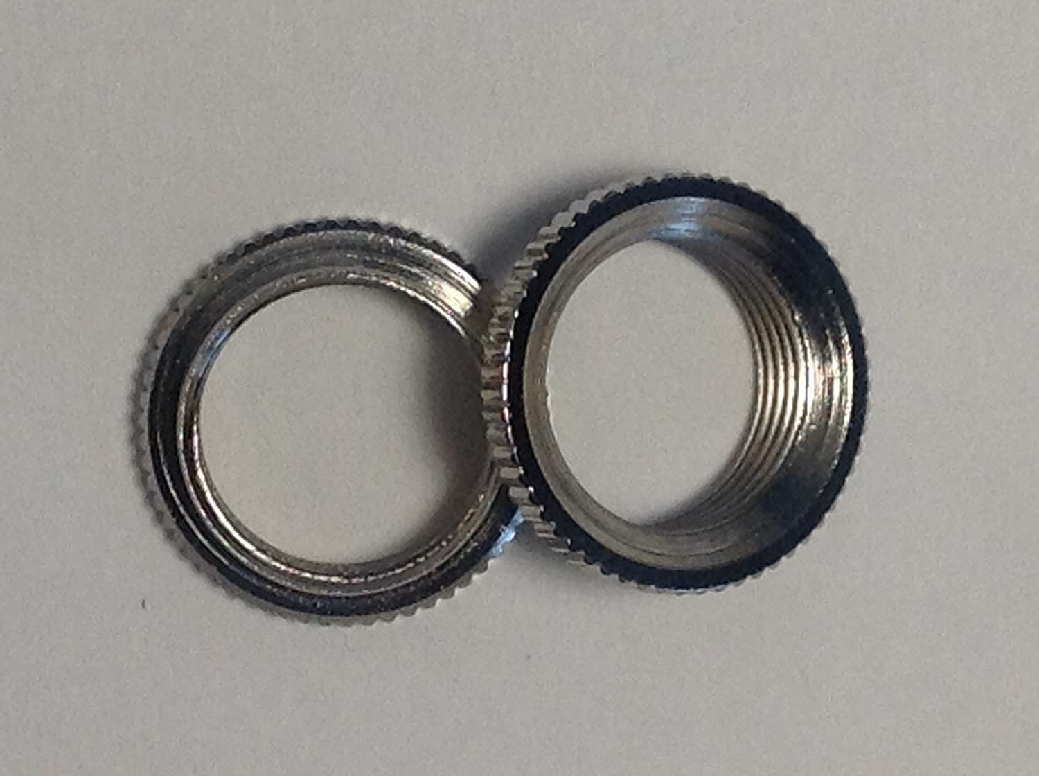 2 Fine Shouldered Deep Toggle Switch Nut Nickel For Switchcraft Made in USA AXE587