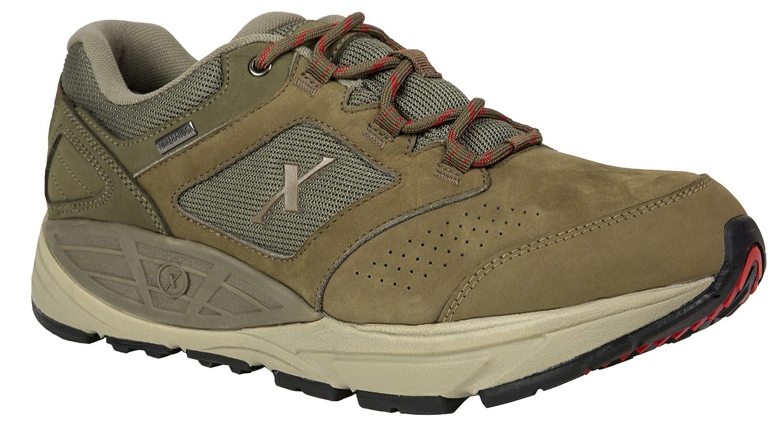 Xelero Hyperion II-Low Men's Comfort Therapeutic Extra Depth Hiking Shoe Leather/Mesh Lace-up 8 4E US Men|Mocha