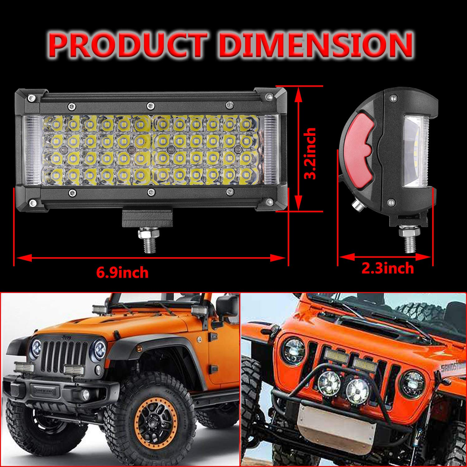 Led Light Bar Moso 7 Inch Dually Sided Side Shooter Sale 10pcs Universal Off Road Jeep Wiring Harness Kit Quad Row Spot Flood Combo Pods Cree Fog Lights Waterproof