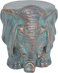 Christopher Knight Home 307409 Salome Elephant Garden Stool, Copper Patina