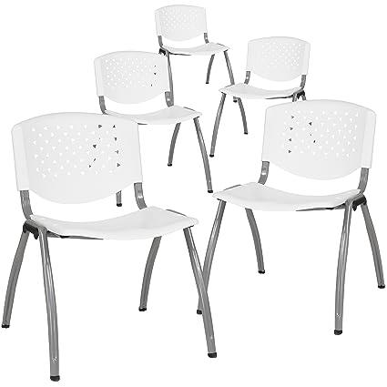 Amazon.com: flash furniture 5-rut-f01 a-wh-gg de plástico ...
