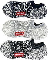 Healthknit(ヘルスニット) 靴下 3足 セット 3足組 スニーカー ソックス ショート丈 メンズ