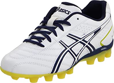 ASICS Lethal GS 4 Soccer Shoe (Little Kid/Big Kid),White/