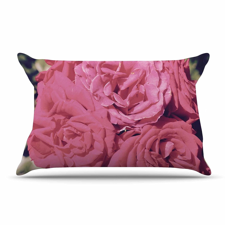 Kess InHouse Susan Sanders Blush Pink Blooming Roses King Featherweight Sham