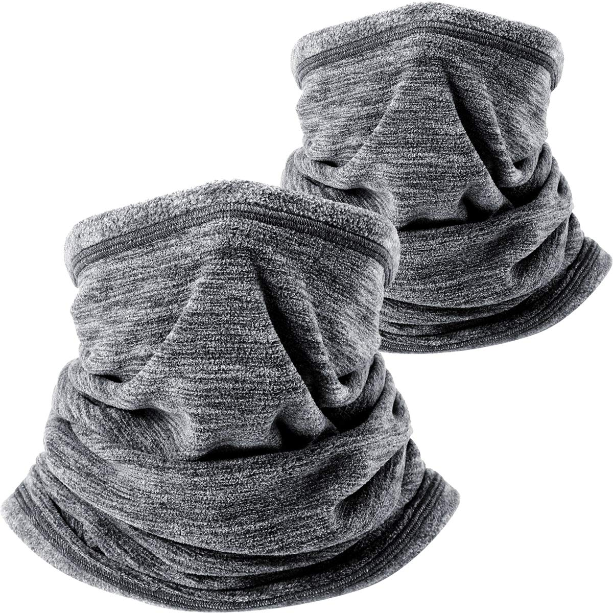 Wtactful Scaldacollo in morbido pile, sciarpa per tenere al caldo durante il freddo inverno mentre si pratica sport all' aperto, confezione da 2 sciarpa per tenere al caldo durante il freddo inverno mentre si pratica sport all' aperto AA-C-0102-2
