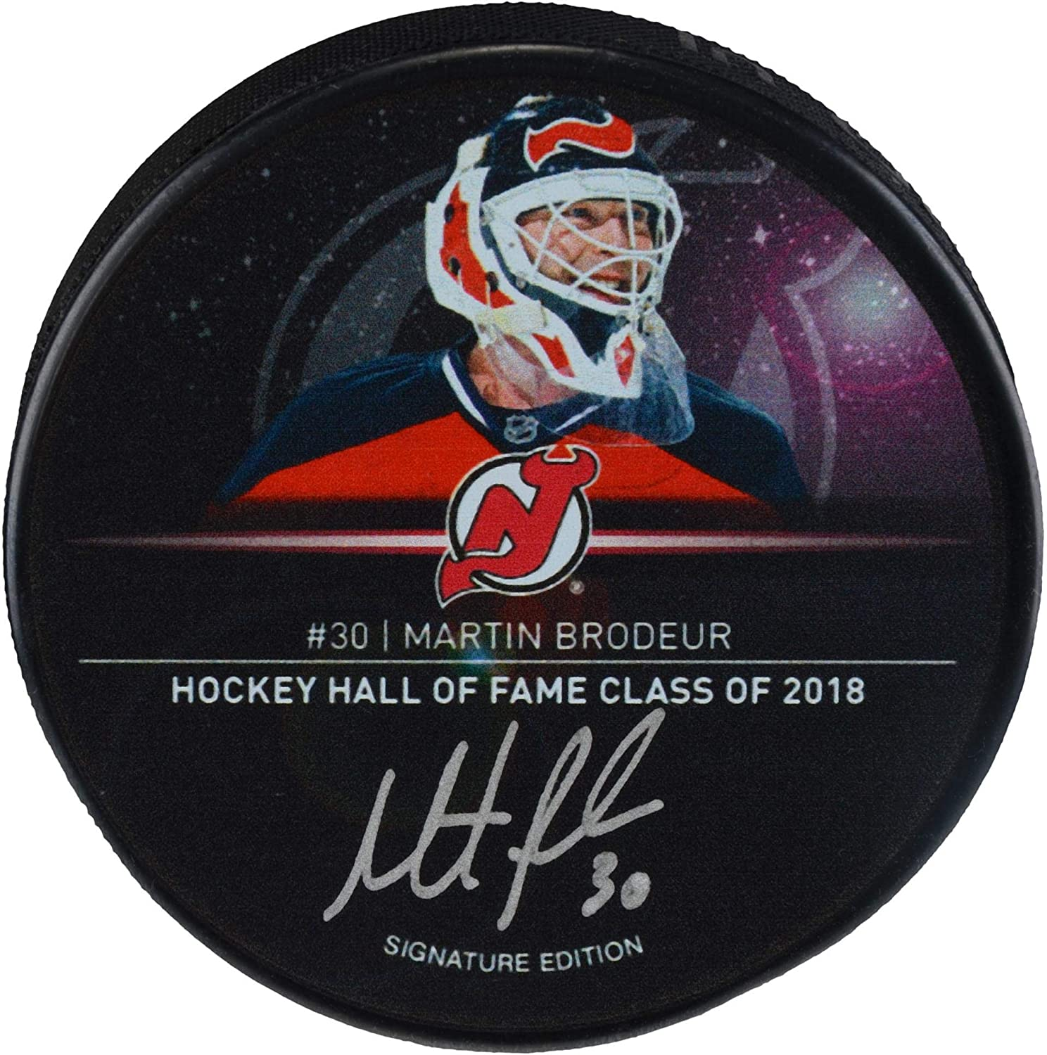 Martin Brodeur New Jersey Devils Autographed 2018 Hall of Fame...