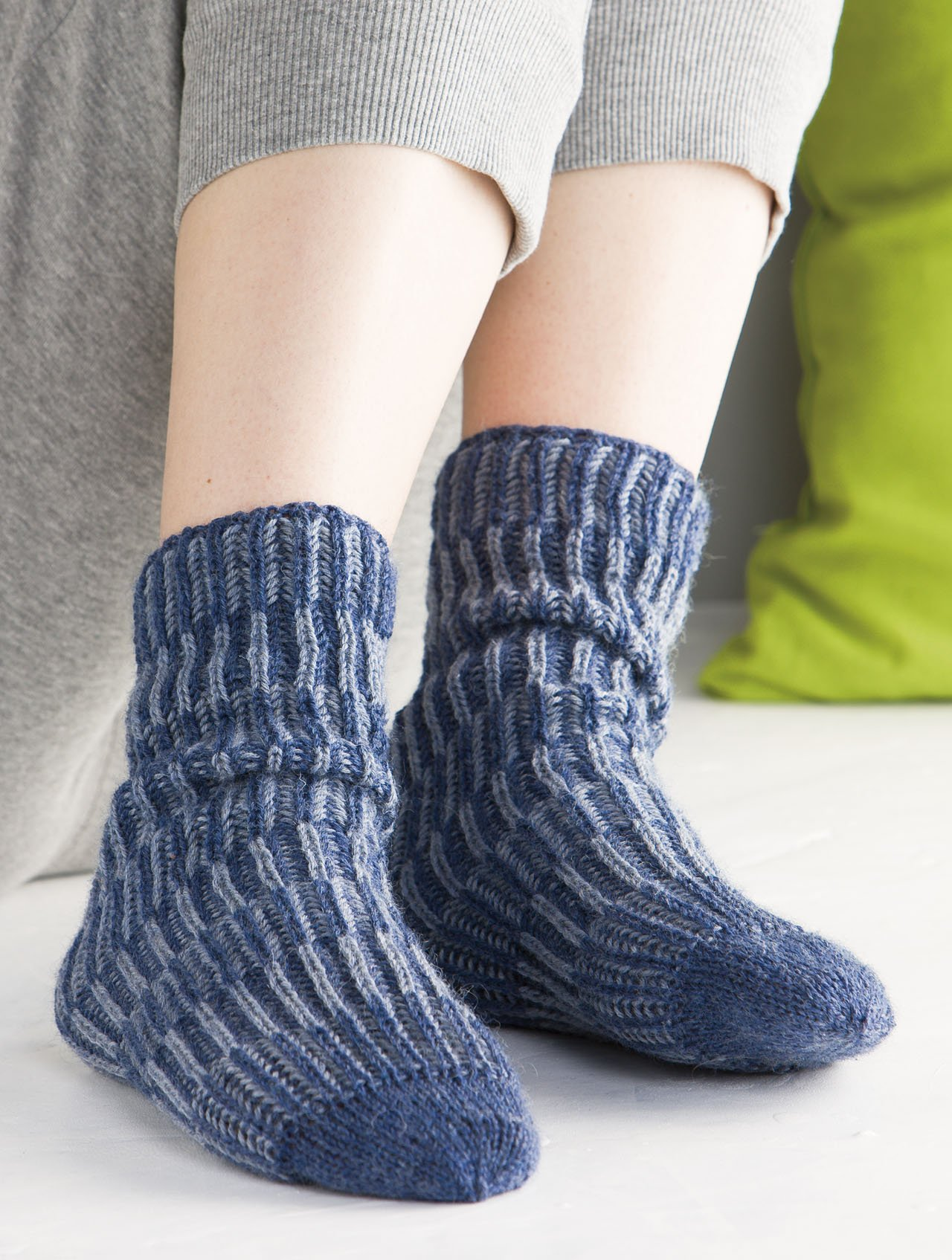 Knitting Brioche-Stitch Socks: 14 Easy Patterns for Tube Socks