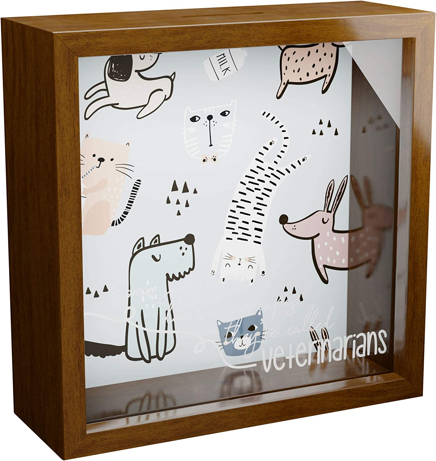 Gift for Veterinarian   6x6x2 Memory Shadow Box   Glass Fronted Keepsake Box   Veterinary Wall Art   Veterinary Technician Gift  Ideal Wall for Home and Office Decor   Vet Tech Gifts for Women & Man