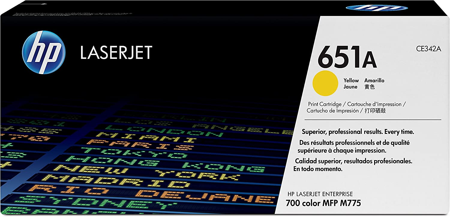 HP 651A | CE342A | Toner Cartridge | Yellow