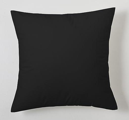 ESTELA - Funda de cojín Combi Lisos Color Negro - Medidas 40x40 cm ...