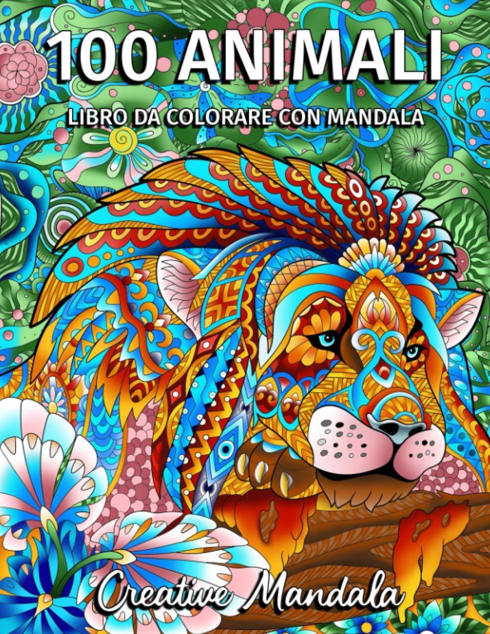 100 Animali da colorare con mandala – Volume 2