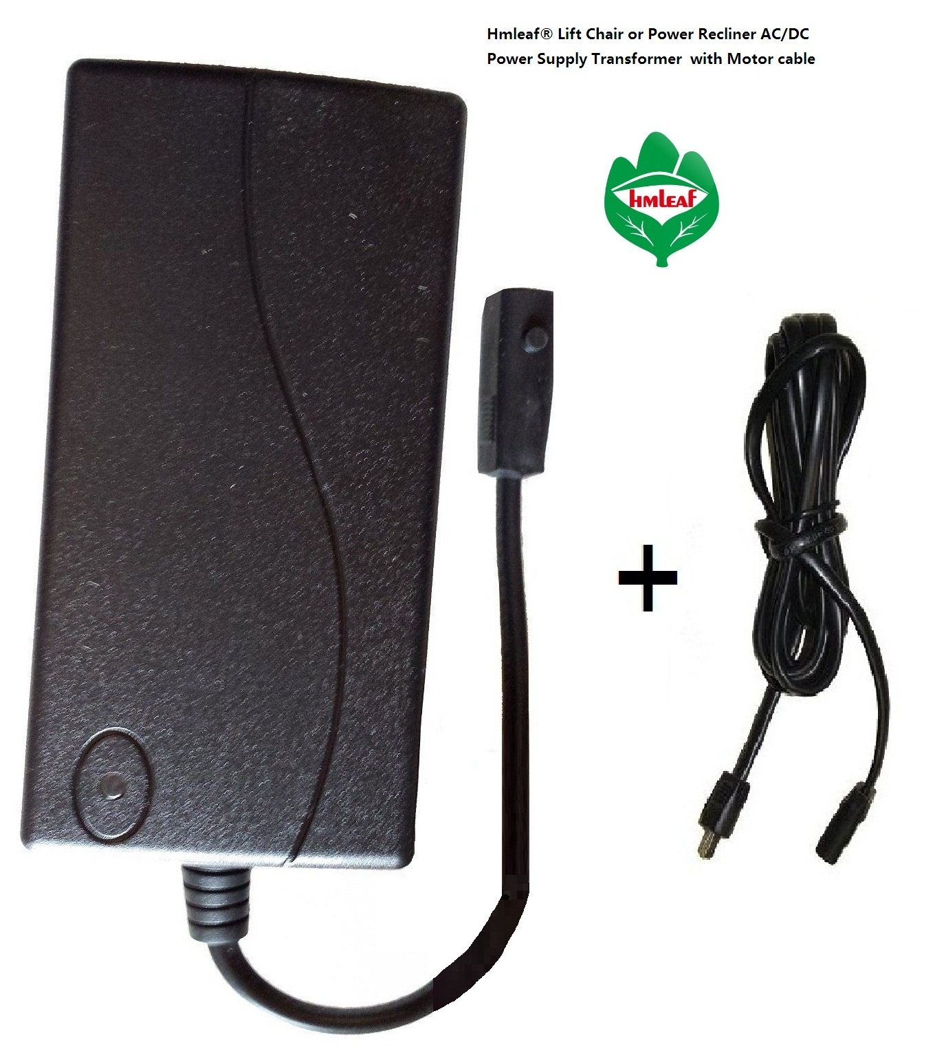 Hmleaf Lift Chair or Power Recliner Power Supply Transformer 29V 2A+6feet Motor Cable