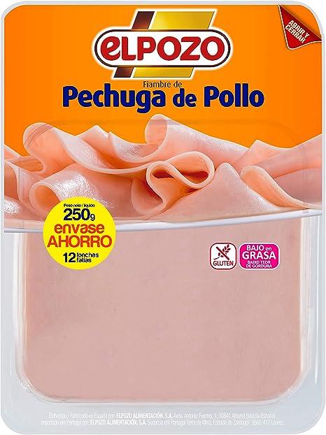 ElPozo Pechuga De Pollo TP - 250 gr: Amazon.es: Alimentación ...