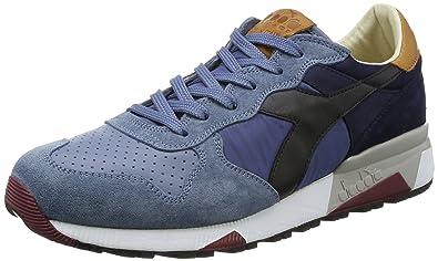Diadora Heritage Herren Sneaker Trident 90 NYL aus Leder Wildleder -  Tricolor - Mehrfarbig Blau 283529b587