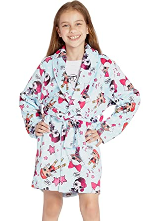 2c586d828 Amazon.com: LOL Surprise! 'Excited Yet?' Glam Girl Pajama Robe: Clothing