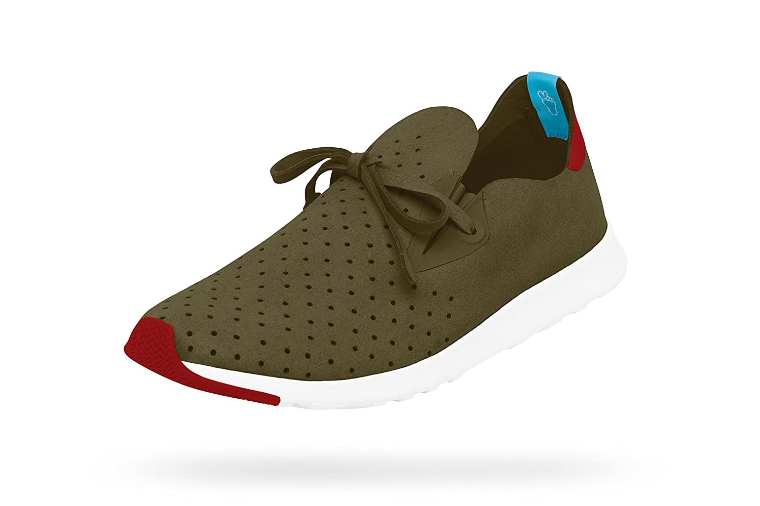 Native Unisex Apollo Moc Fashion Sneaker. B01831YYTK 10.5 D(M) US|Rookie Green/ Rover Red/ Shell White/ Rover Rubber