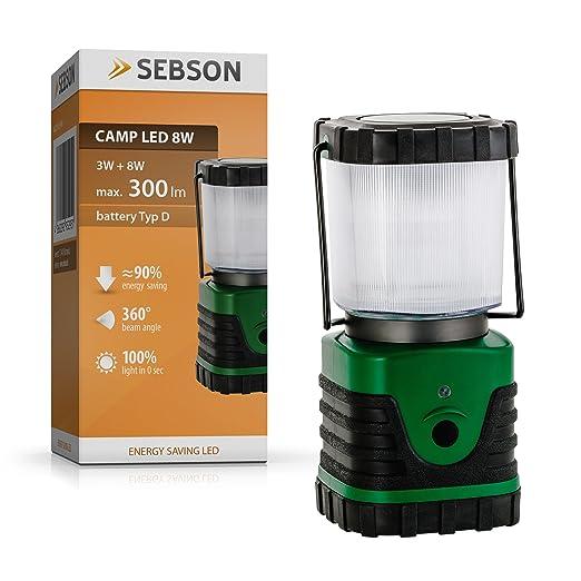6 opinioni per SEBSON® Campeggio lanterna LED, batteria, dimmerabile, luce campeggio
